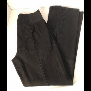 DG2 Diane Gilman Black Denim Stretch Pants
